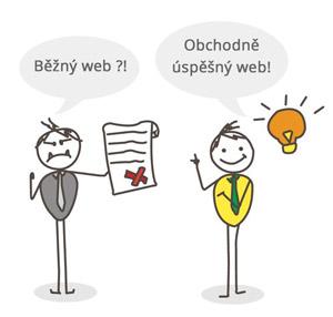 běžný vs obchodně úspěšný web