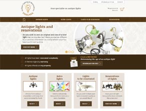 webdesign Brno - Antique-lights.com